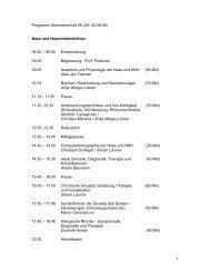 1 Programm Sommerschule 08 (29.-30.08.08) Nase und ...