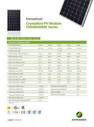 Datasheet Crystalline PV Module CHSM6608M Series - Activity Solar