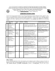 Admission Notification for courses at SRC, Secunderabad