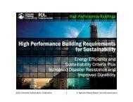 High Performance Buildings - International Concrete Sustainability ...