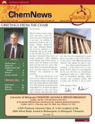 ChemNews - Department of Chemistry - University of Minnesota
