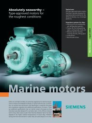 Absolutely seaworthy – Type-approved motors for the ... - Siemens