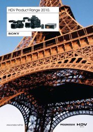 HDV Product Range 2010. - Creative Video