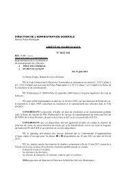 Arrêté municipal de circulation du 13 juin 2012 - Ville d'Agen