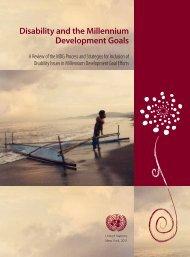 Disability and the Millennium Development Goals