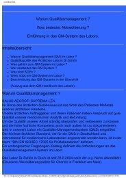 Einführung in das QM-System des Labors ... - Labor-schoen.de