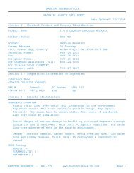 MSDS for HR2-715 - Hampton Research