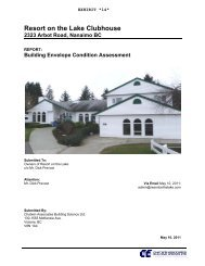 Building Envelope Condition Assessment - RV Resort on the Lake