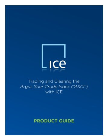 PRODUCT GUIDE - ICE