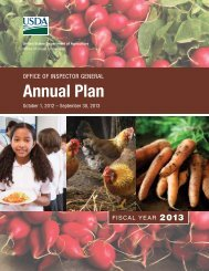 FY 2013 Annual Plan - US Department of Agriculture