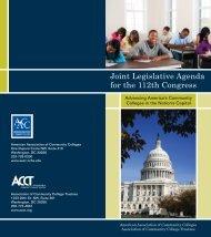Joint Legislative Agenda for the 112th Congress - American ...