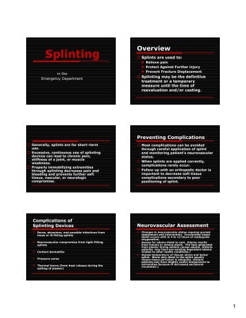 TCS splinting