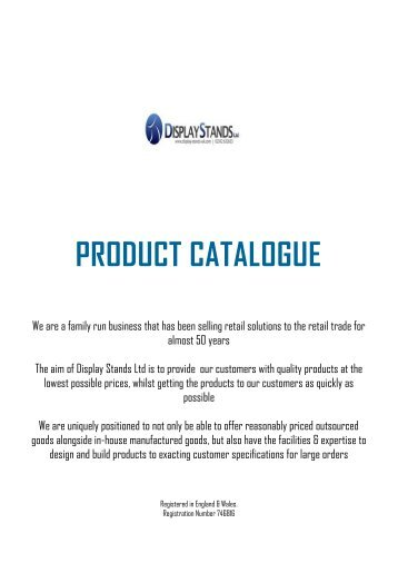 PRODUCT CATALOGUE - Display Stands Uk