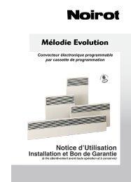 Notice Convecteur électronique Noirot Mélodie Evolution