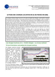 Synthèse Charges locatives - DRIHL Ile-de-France