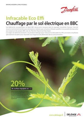 Infracable Eco Effi Chauffage par le sol électrique en BBC - Danfoss