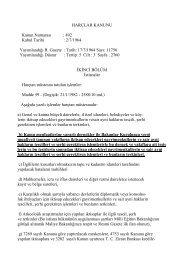 HARÇLAR KANUNU Kanun Numarası : 492 Kabul Tarihi : 2/7/1964 ...