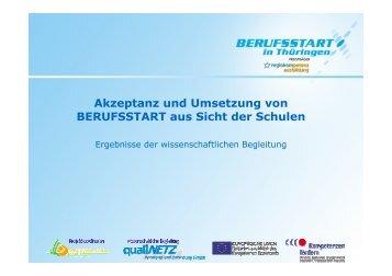 Akzeptanz und Umsetzung von BERUFSSTART ... - Berufsstart plus