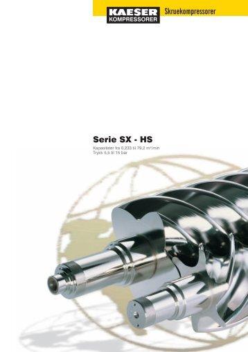 Skruekompressorer Serie SX - HS - Trykkluft Teknikk AS