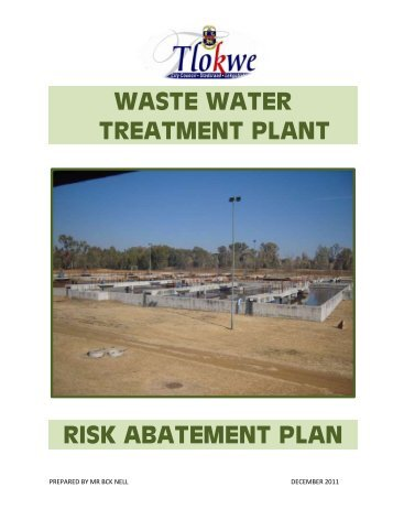waste water treatment plant risk abatement plan - Potchefstroom City ...