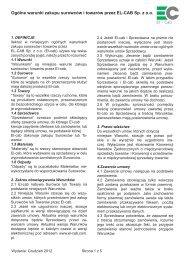 Ogólne warunki zakupu surowców i towarów przez EL-CAB Sp. z o.o.