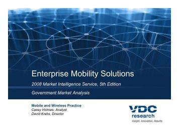 Enterprise Mobility Solutions - VDC Research