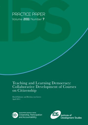 Teaching and Learning Democracy - Institute of Development Studies
