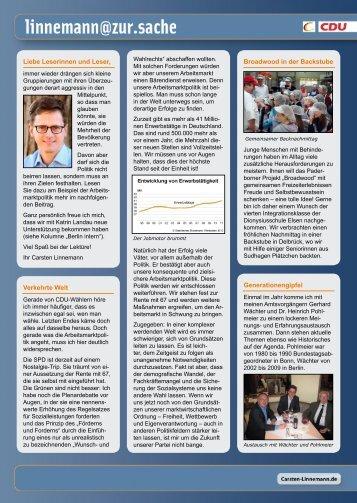 Infobrief - Ausgabe 01/12 - Carsten Linnemann