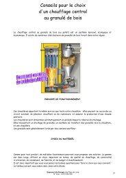 Conseils pour le choix d'un chauffage central - Espace Info Energie ...