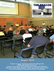 August 2010 - Nebraska Emergency Management Agency - State of ...