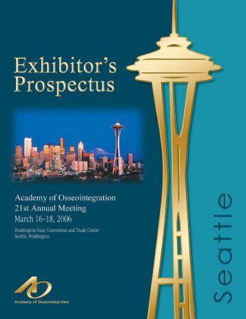 Exhibitor Prospectus - Academy of Osseointegration