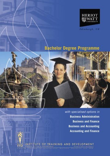 Bachelor Degree Programme - ITD GROUP - Institute of Training ...