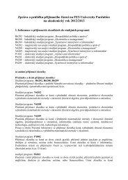 Zpráva o průběhu přijímacího řízení na FES 2002/2003