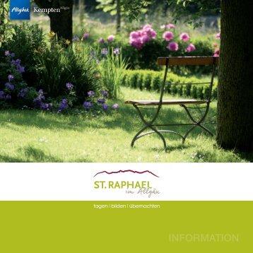 Download Hotelprospekt hier... - St. Raphael im Allgäu