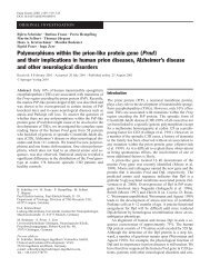 Polymorphisms within the prion-like protein gene (Prnd) and their ...