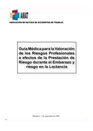 Guía Médica para la Valoración de los Riesgos Profesionales a ...