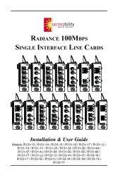 radiance 100mbps single interface line cards