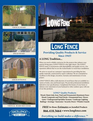 Providing Quality Products & Service Since 1945! A ... - Long® Fence