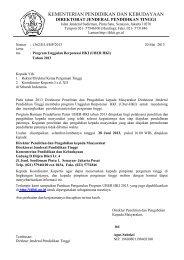 Surat edaran - DPPM UII