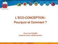 L'Eco conception : pourquoi et comment ?, P-Y KOEHRER - Apesa
