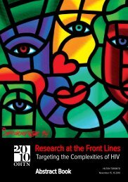 Abstract Book - OHTN Research Conference - The Ontario HIV ...