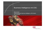 Business Intelligence mit CSC