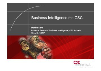 Business Intelligence mit CSC