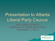 Presentation to Alberta Liberal Party Caucus - Institute for Public ...