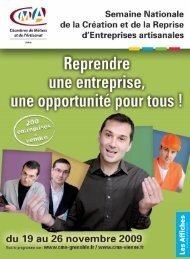 •mep SNCR OCTOBRE 2009 - Chambre des Métiers et de l'Artisanat