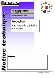 Production Eau chaude sanitaire - Sdeec