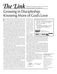 Growing in Discipleship, Knowing More of God's Love - Westminster ...