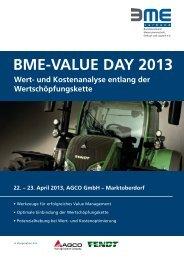 BME-VALUE DAY 2013 Wert- und Kostenanalyse entlang ... - costdata
