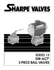 Dir-Act 3 Piece Ball Valves - Series 13 - Temp-Press Inc