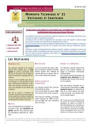 VESTIAIRES ET SANITAIRES - La Patisserie Artisanale Française